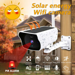 Wireless HD 1080P Solar Power WiFi IP Outdoor Home Security Camera Night Vision $52.99