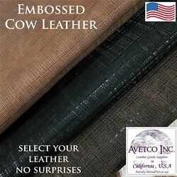 Avetco Top Grade Glen Plaid Embossed Novelty Cow Leather 3 oz Choose your hide $31.50