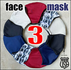 3 PACK Face Mask Washable Reusable Desinger Facial Mask * Ship from USA** $12.99