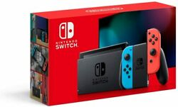 Nintendo Switch w Neon Blue amp; Red Joy‑Con Grey 32GB Newest Model 2DAY SHIP🚚 $399.99