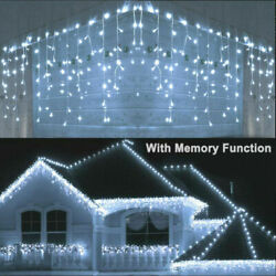 13FT Curtain Icicle Lights Wedding Party LED Fairy Christmas Indoor Outdoor US $14.99