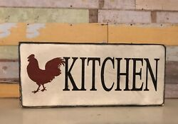 Farmhouse Wood Rustic Sign ❤️ ❤️ ❤️ ROOSTER KITCHEN $11.99