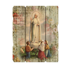 Our Lady of Fatima Wood Plaque 9