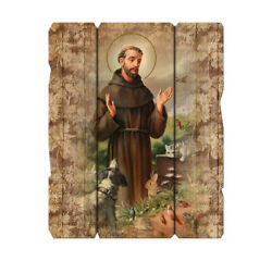 St. Francis of Assisi Wood Plaque 9