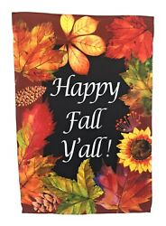 Happy Fall Y'all Garden Flag Double Sided 12