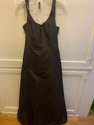NWT NEW MARIA BIANCA NERO SZ L LINED CHOCOLATE COLOR SILK GOWN CORSET OPEN BACK $89.99