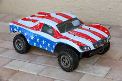 Custom Body America Flag Style for ARRMA Senton 4x4 3S / 6S BLX Cover Shell $34.98
