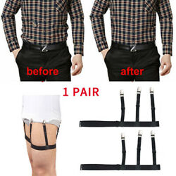 2PCS Men Shirt Stay Belt Non-slip Locking Clip Tucked Leg Garters Strap $6.35