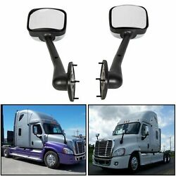 LH+RH Side Hood Chrome Mirrors Manual Pair For Freightliner Cascadia 2008-2016 $76.50