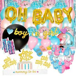 Gender Reveal Party Supplies Baby Shower Boy or Girl Reveal Kit 116 Pieces $22.99