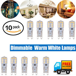 10pcs G9 5W LED Dimmable Capsule Bulb Replacement for Light Lamps 2835 SMD $11.55