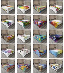 Ambesonne Colorful Print Flat Sheet Top Sheet Decorative Bedding 6 Sizes $22.99