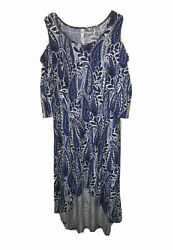 Women#x27;s Ny Collection Dress Size 2XL Petite Plus Summer Blue Floral NEW NWT $70 $19.99
