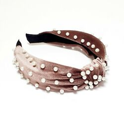 Dusty Pink Pearl Knotted Headband Women#x27;s $12.99
