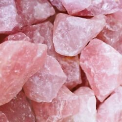 Rose Quartz Crystal Collection💎Bulk Rough High Carat Mineral Healing Rock Lot $9.20