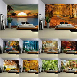 Seasonal Forest Landscape Cloth Painting Bedroom Decor Art Tapestry Wall Hanging $14.42