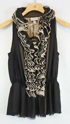 Robert Rodriguez Womens Target Neiman Marcus Ruffled Blouse Top Small $80 NEW $19.99