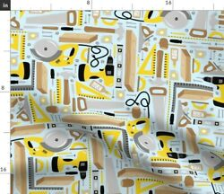Tool Man Hammer Wood Dad Father Workshop Fabric Printed by Spoonflower BTY $35.00