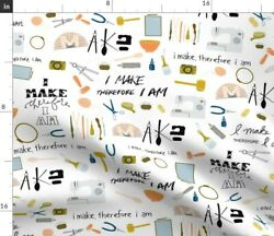 Creator Affirmation Illustrated Tools Of The Fabric Printed by Spoonflower BTY $30.00