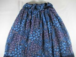 Justice Blue and Purple Girl's Slip On Lined Skirt – Size 7 – Preowned $8.99