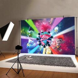 Trolls Backdrop Girls Birthday Party Photography Background Banner Decoration $8.98