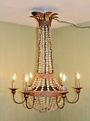 Niermann Weeks Iron & Crystal 6 Light Chandelier - From a 20 Mil $ Naples Estate