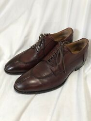 barneys new york mens shoes Brown Leather Vera Gomma Oxfords 9 M $22.00