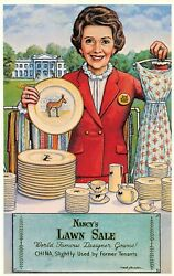 NANCY REAGAN LAWN SALE AT THE WHITE HOUSE DESIGNER GOWNS amp; USED CHINA
