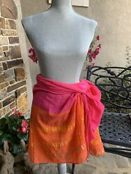 Victoria's Secret Sexy Beaded Tassels Beach Wrap Sarong Cover-Up Pink  $9.99