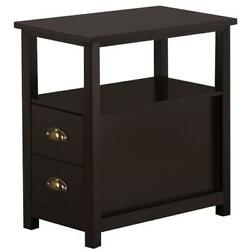 EntryWay Chair Side Table Narrow End Table with 2 Drawers Living Room Bedroom $199.99