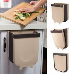 Creative Wall Mounted Folding Waste Bin Kitchen Bin Rubbish Container Box $25.99