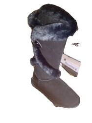 Bearpaw Women#x27;s Sheilah Mid Calf Leather Snow Boot $64.99