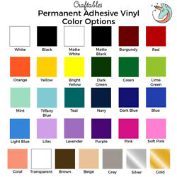 Craftables Adhesive Vinyl Roll 12quot; x 10#x27; Permanent Craft Outdoor for Cricut