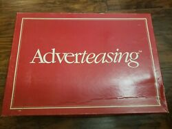 Adverteasing Board Game~The Game Of Slogans Commercials & Jingles Vintage $15.50