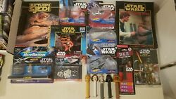 COOL Star Wars Toys Books Mix w Micro Machines Poster Book Hot Wheels Pez $45.00