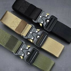 MEN Casual Military Tactical Army Adjustable Quick Release Belts $12.99
