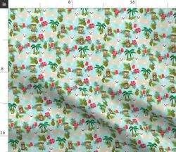 Small Island Dogs Exotic Pets Summer Pineapple Fabric Printed by Spoonflower BTY $20.50