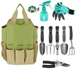 Multi-function Portable Garden Tool Bag Oxford Cloth Large Storage Organizer $13.29