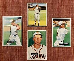 Old Bowman St Louis Browns Orioles Baseball Cards Roy Sievers RC Wood Berardin $31.00