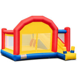 Inflatable Bounce House With Slide Safety Bouncer Castle Jumper Bouncy Play Kids $265.94