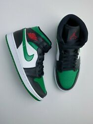 Nike Air Jordan 1 Mid Pine Green Toe 554724-067 Size 7.5 Brand New Free Shipping $145.00