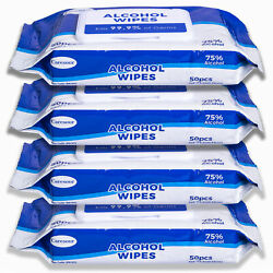 Caresour Advanced 75% Alcohol Sanitizer Wipes 4 x of 50 (200) Hand Sanitizer $34.99