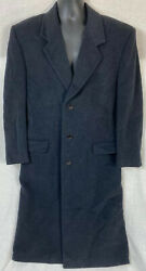 Barneys New York MARZOTTO Wool Cashmere Black Coat Men's Sz 40R Italy $24.99