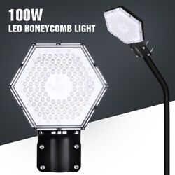 100W 8000LM Commercial Street Light LED Outdoor Garden Yard Road Lamp IP65 $31.75