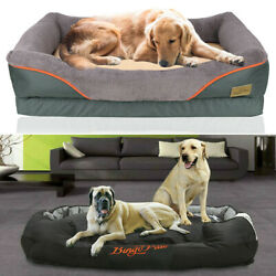 Jumbo Plus Dog Beds Orthopedic Extra Large Thicken Form Waterproof Pet Bed Cover $25.91