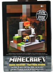 Mojang Mattel Minecraft Cave Biome Collection #1 Mining Mountain amp; Steve Pickaxe $23.99