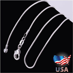 Lot 10PCS Wholesale 925 Sterling Solid Silver 1mm Snake Chain Necklace 16 30quot; U7