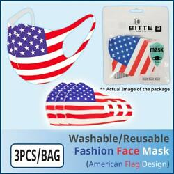[Ships from USA] Fashion Protective Face Mask (American Flag Design) (3PCS/BAG) $8.49