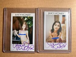 Two super RARE Maria Ozawa Juicy Honey Auto Chekis Signed LEGEND! 🔥 1 Of 1 w😳w $396.00