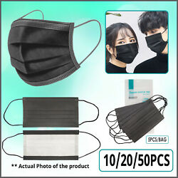 [SHIP FROM USA] Protective Face Mask (10/20/50PCS) (Black) $14.99